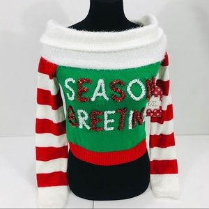Derek Heart Seasons Greetings Christmas Sweater
